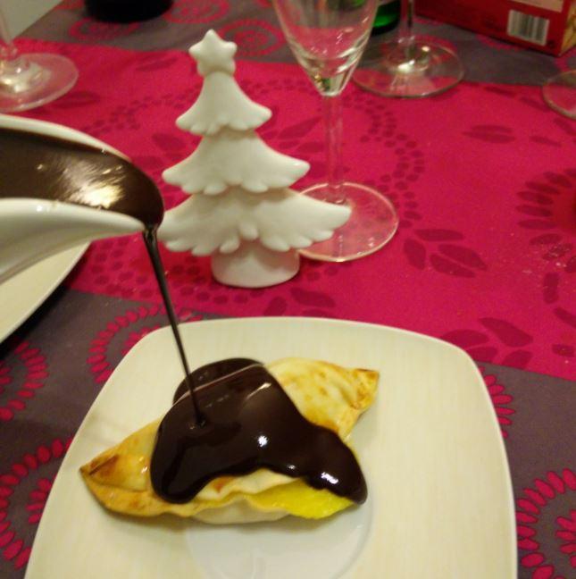 Empanadillas de naranja y chocolate....