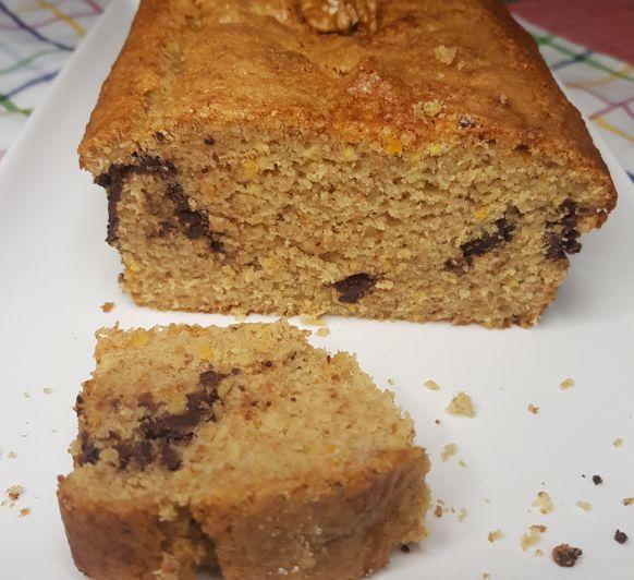 CAKE INTEGRAL DE ESPELTA CON NARANJA Y CHOCOLATE