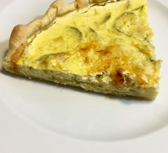 QUICHE DE CALABACÍN Y REQUESÓN CON Thermomix®