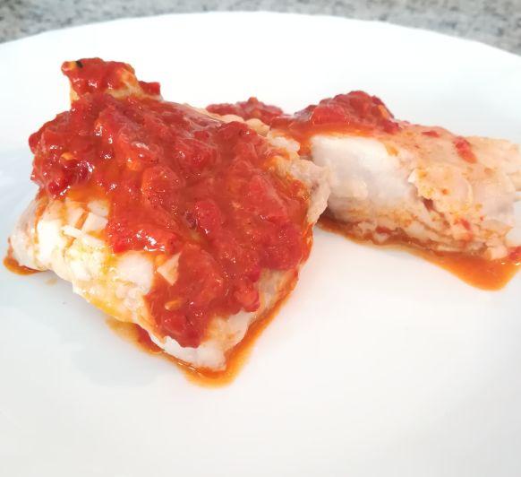 Perca con salsa de pimientos ''la receta''