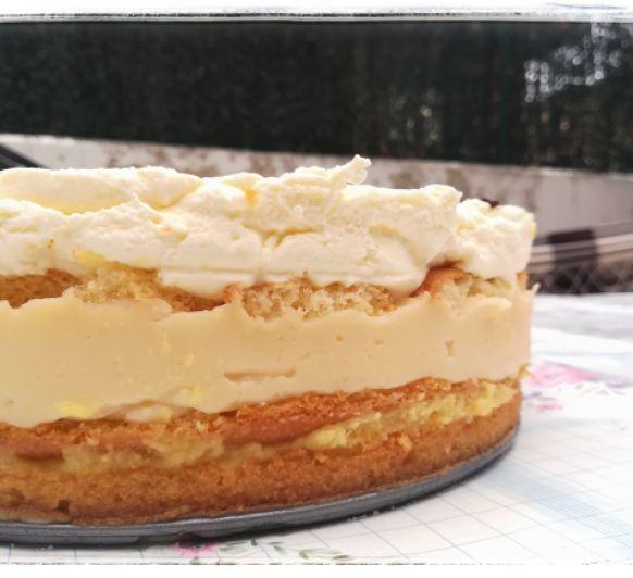Pastel de piña y crema ( opción sin gluten)